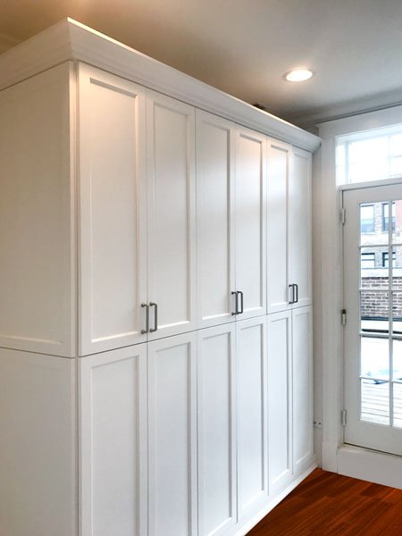 custom locking built in bedroom cabinets