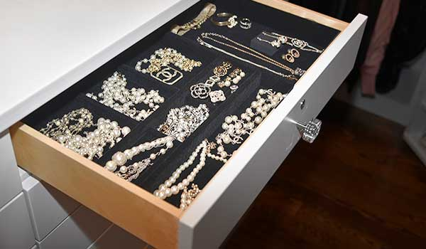 velvet drawer organizer for jewelry