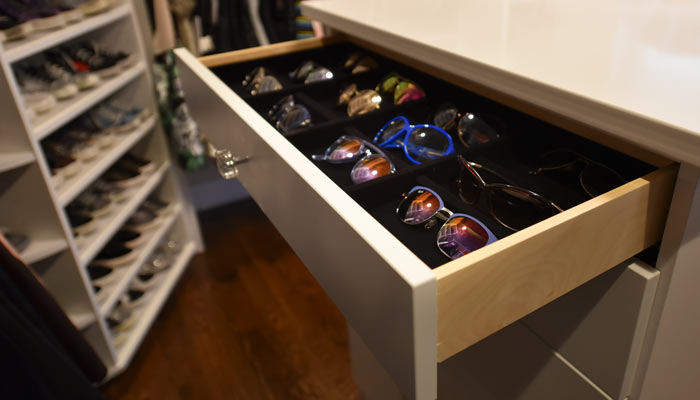 custom velvet lined sunglasses organizer