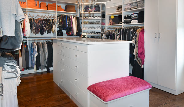 spare bedroom converted to dream walk in closet