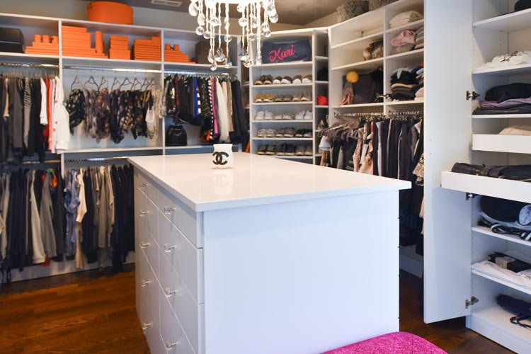 bedroom converted to fashionista closet