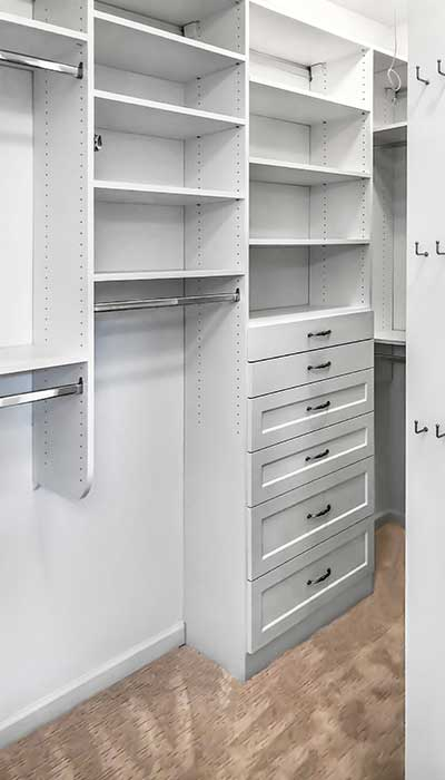 open closet ideas for a smaller walk in closet space