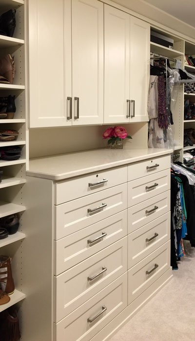 built in closet hutch with closet dresser drawers