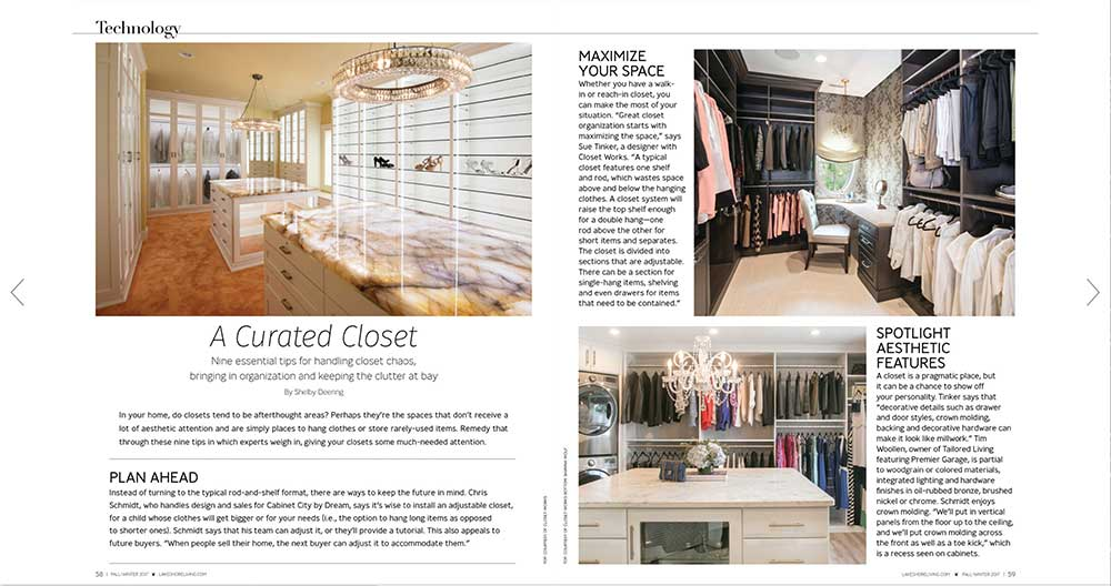 Designer Sue Tinker's work featured in Lakeshore Magazine