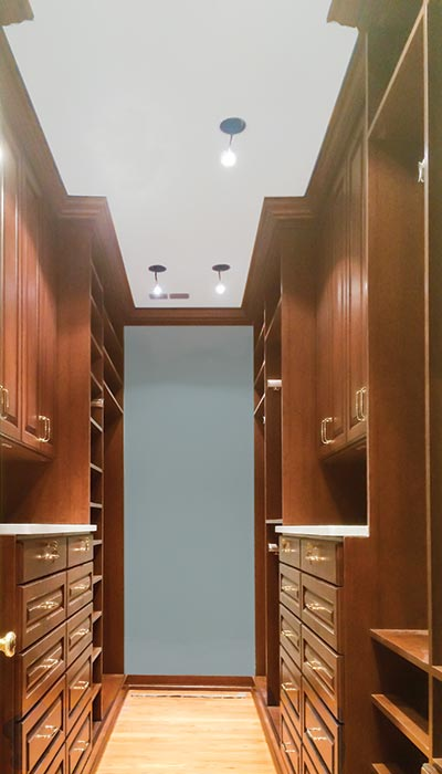 all wood raised panel closet