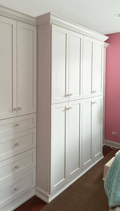 Built in cabinets add storage when there is no closet in bedroom. Bedroom Wardrobe Closet with Built In Cabinets Solves Storage Problems