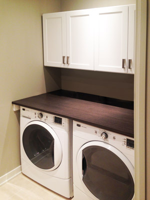 custom compact laundry room unit