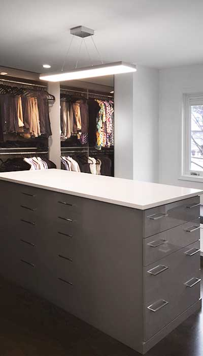 Custom Closet Storage Systems With A Modern Soft