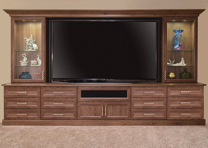 traditional built in entertainment center