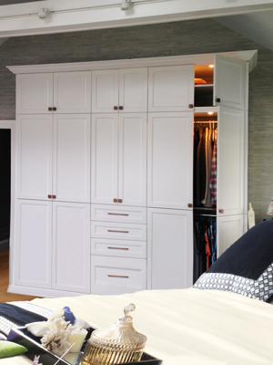custom bedroom wardrobe style wall unit