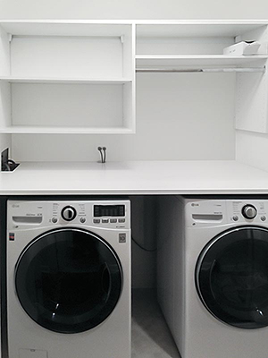 custom laundry center organization system