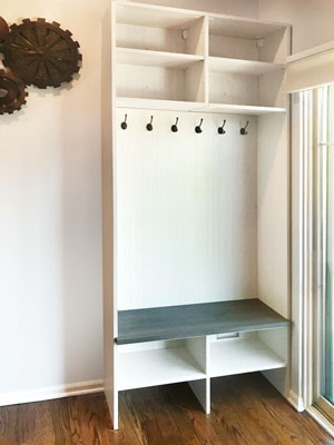 back entry mudroom locker design