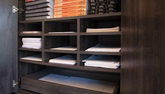 Custom Paper Organizer Cubbies For Office Cabinets