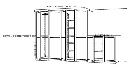 custom basement storage plan