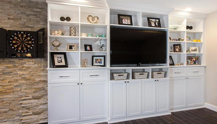 Media center and entertainment organization system in shaker style