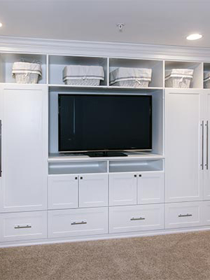 custom play room wall unit organization system