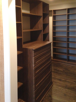 custom walk-in with shoe organizer