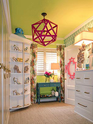 custom closet organization system for young woman's dressing room