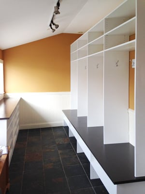 sunlight custom mudroom