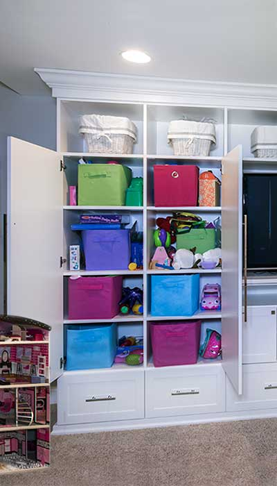 kids closet organizing ideas for a playroom