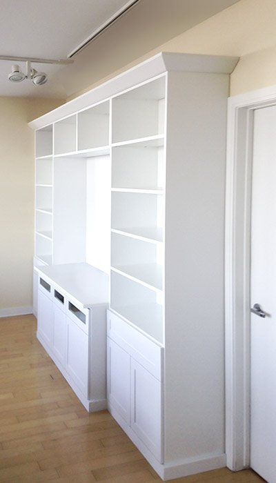 Storage space for all of your media-related things and decor