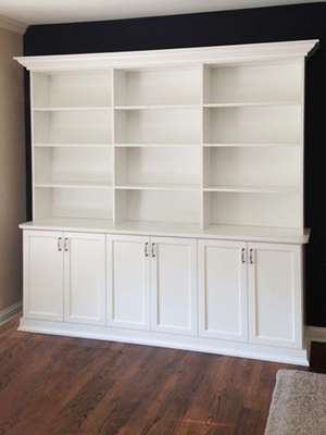 custom white laminate wall unit