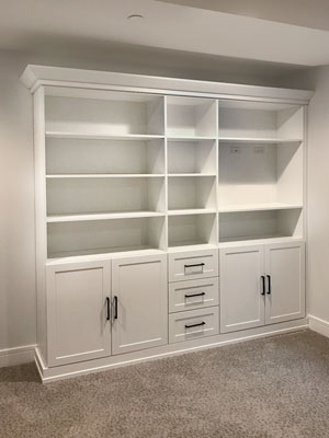custom wall unit organization system