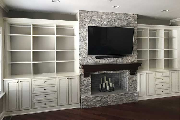 traditional style media center