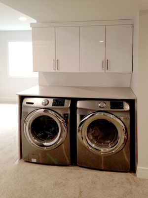 custom high gloss laminate laundry room