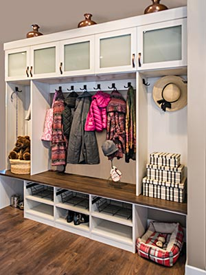 custom family mud room design