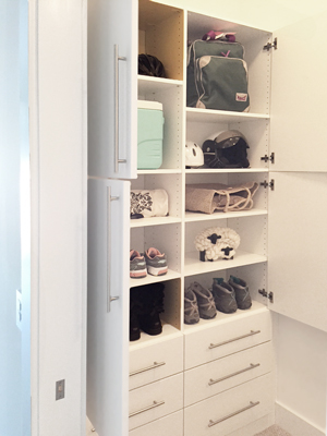 custom white wall unit