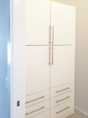 custom white wall unit 2