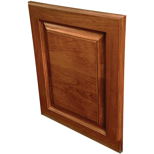 Crownpoint solid wood door with raised panel and beveled edge for cabinets or drawers