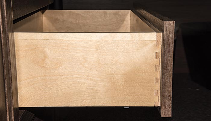 drawer with dovetailed joints