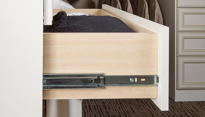 side mount drawer for closet system