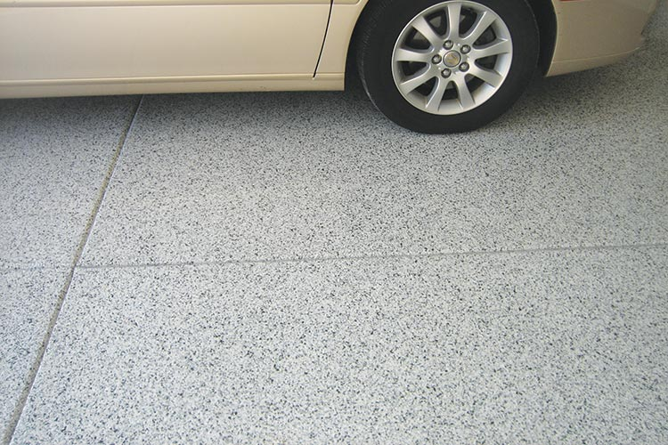 Professional grade epoxy garage floor coating is long lasting and slip resistant