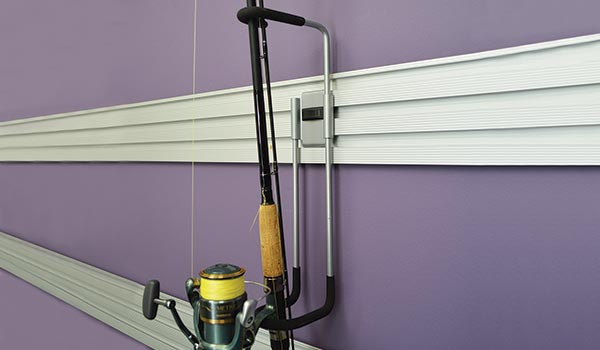 Garage accessory: Hook to Hold Fishing Rods on the Omni Track system