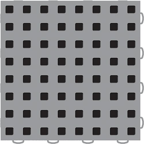 gray garage floor tile with black from weathertech