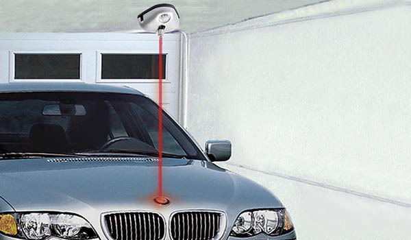 Garage accessory: laser park assist system for one car garage