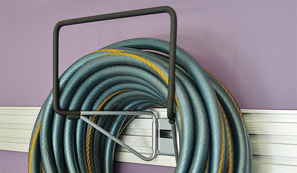 Garage accessory: Hose, rope extension cord hook for Omni Track System