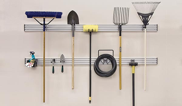 Lawn and Garden garage accessory kit for Garage organization system