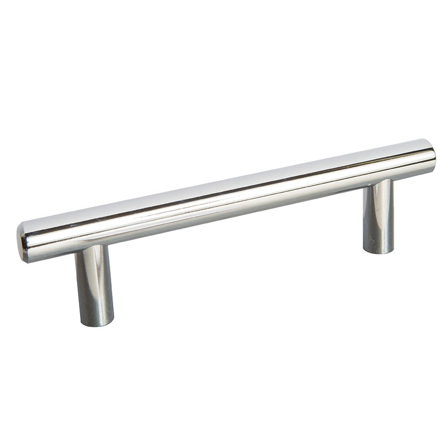 polished chrome bar handle