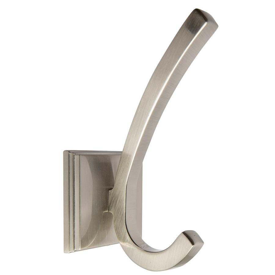 Premium Brushed Chrome Classic Single Hook Part Number 1596