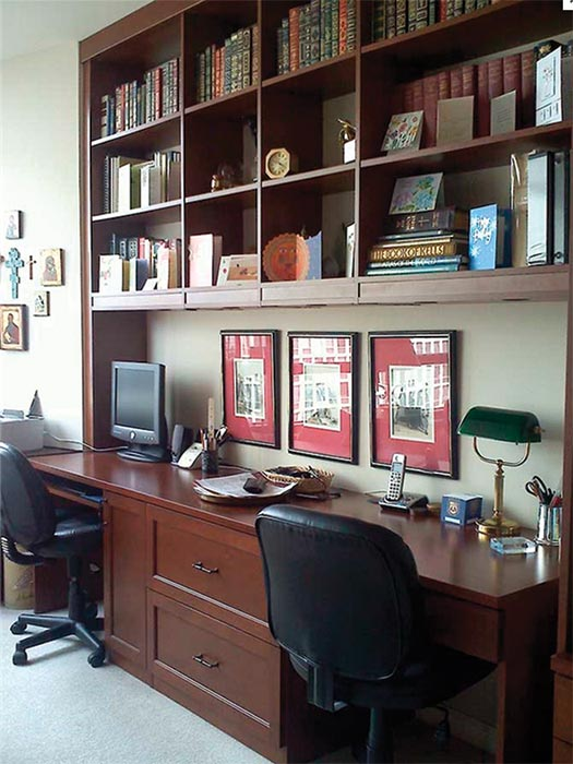 Custom home office design for two work at home professionals