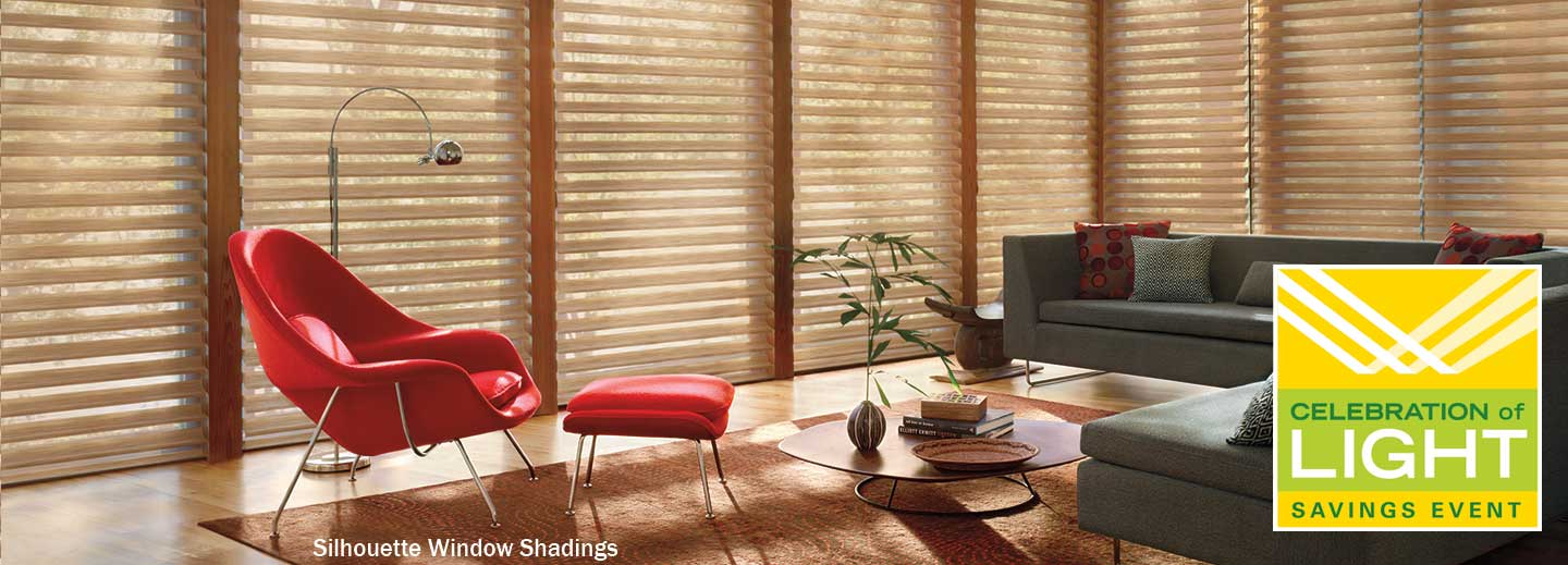 save $100 or more on select Hunter Douglas window treatments