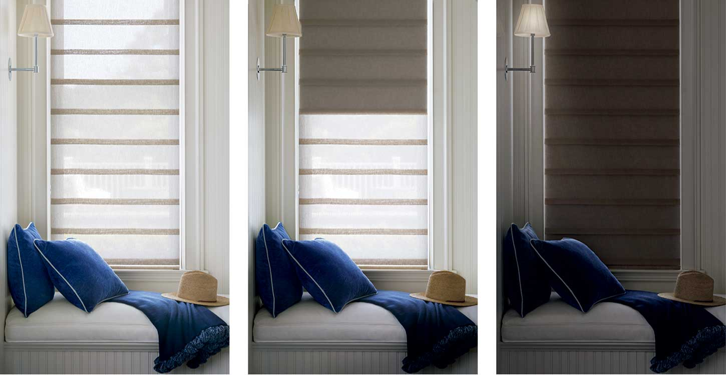 Hunter Douglas Duolite window treatments offer privacy and light diffusion