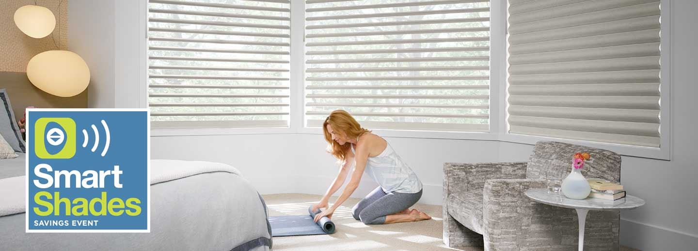 save $150 or more on select Hunter Douglas window treatments