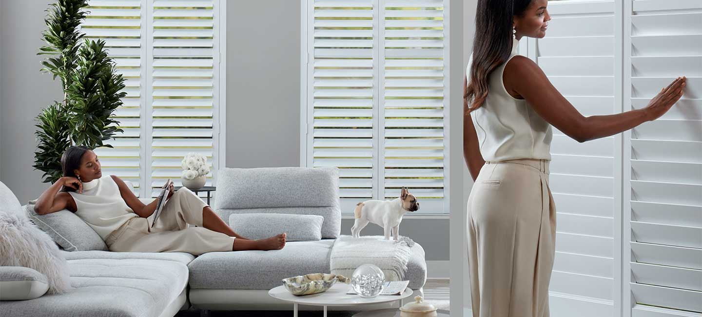 NewStyle<sup>®</sup> Hybrid Shutters with SoftClose from Hunter Douglas