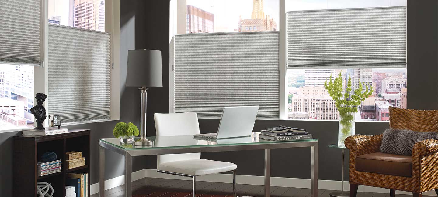 Hunter Douglas Pleated Shades With Top Down/Bottom Up Configuration