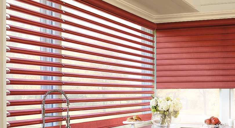 Pirouette shadings by Hunter Douglas close-up
